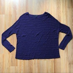 Eileen Fisher purple knit sweater
